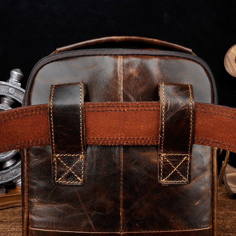 cow leather messenger bag