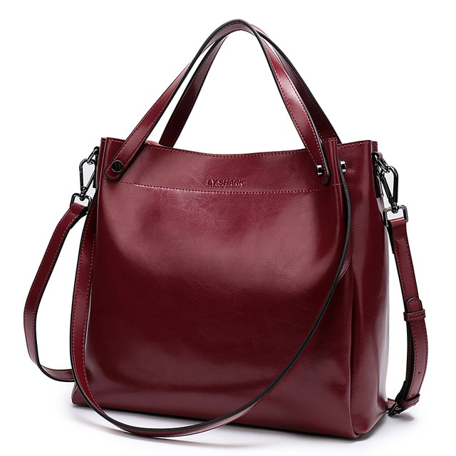 casual tote leather handbag