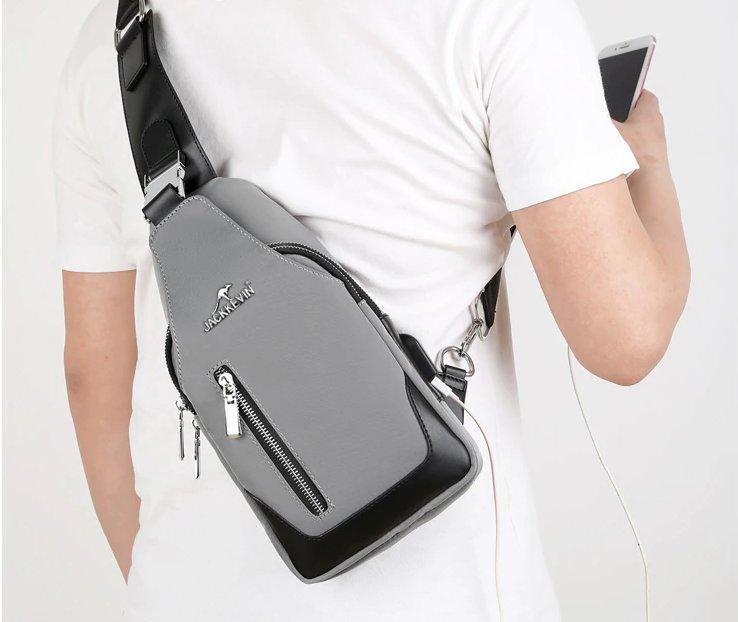 chest bag grey