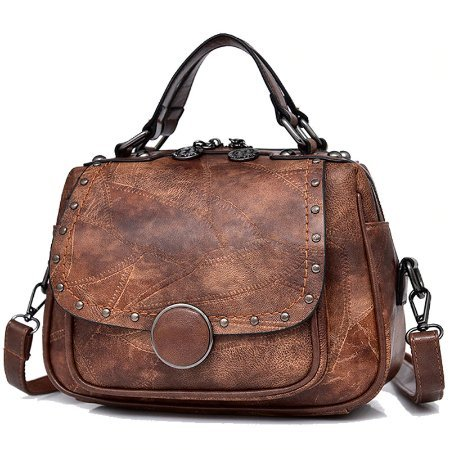 cowhide leather handbag