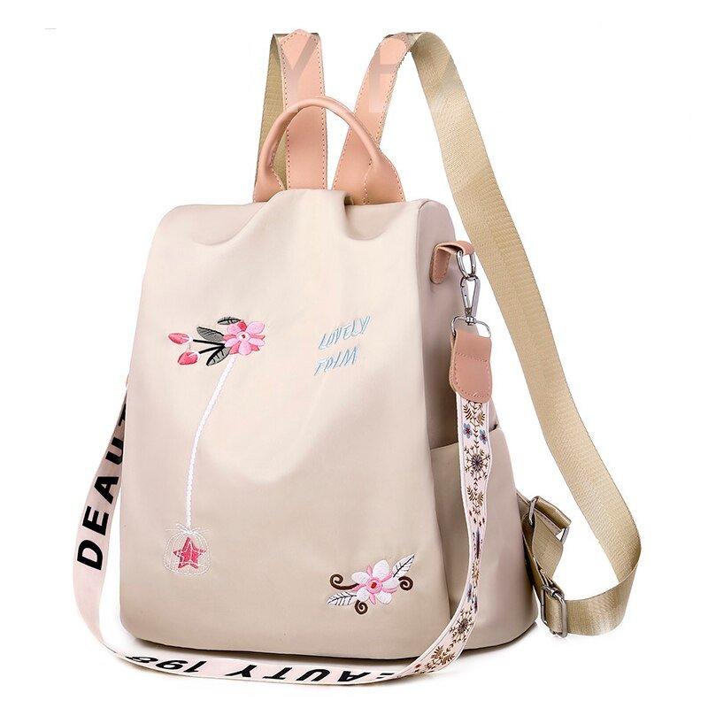 school backpack white