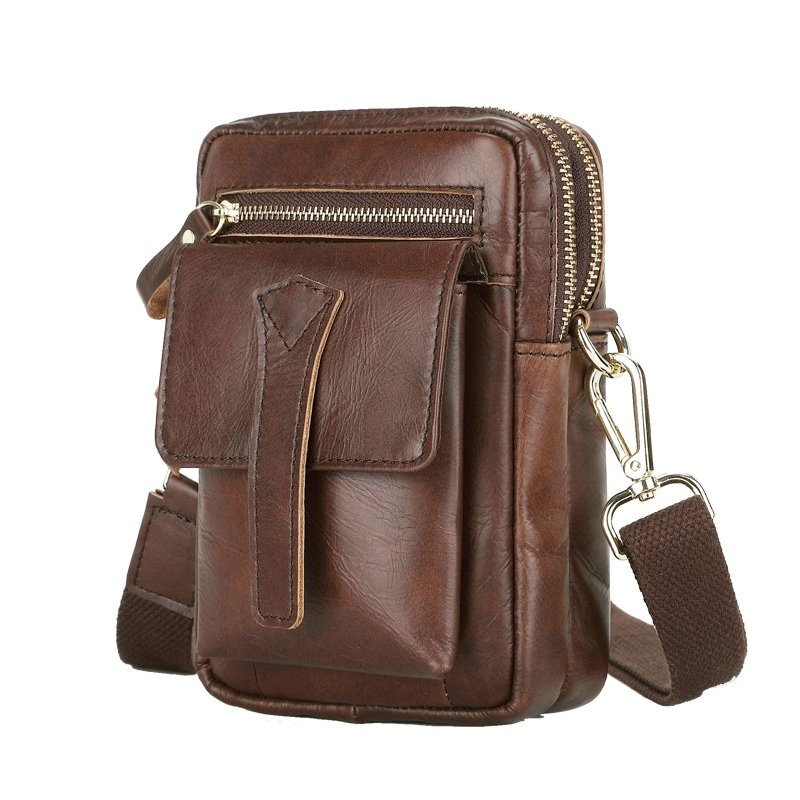 leather waist belt bag